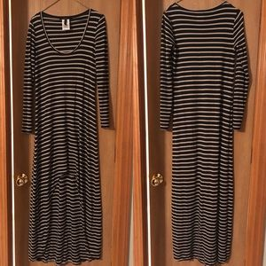 BCBG Stripe Maxi Dress